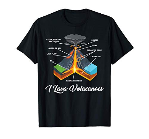 Vulkanliebhaber Geologie Geschenk I Lava Volcanoes Vulkan T-Shirt