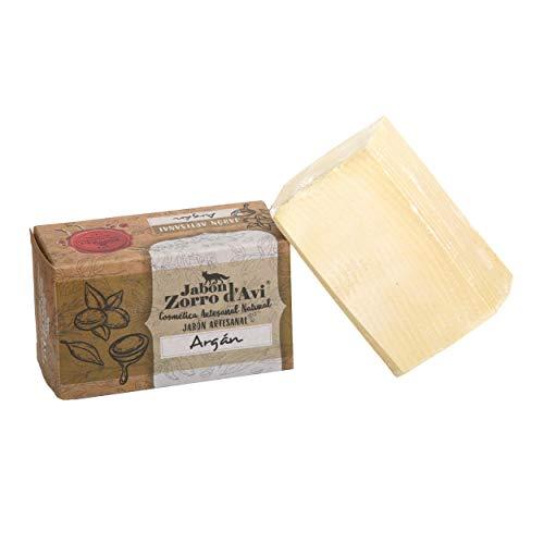 Jabón Zorro D'Avi   Jabón Natural de Argán   120 gr   para Pieles Sensibles y...