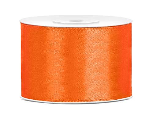 Satinband Dekoband 50 mm breit (orange) Geschenkband Schleifen bilden