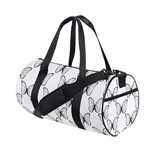 HARXISE Bolsa de Viaje,Señora Mariposa Alas Espirituales Victoriana Femenina Madre Tierra Libertad Diseño,Bolsa de Deporte con Compartimento para Sports Gym Bag