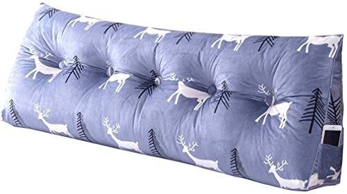 B-fengliu Lesekissen Stützbett Kissen mit Keil Bett-Kissen/großen Dreieck Kissen mit abnehmbarem Bezug, in Nachttisch/Sofa/Büro/Home/Auto, das for Lendenkissen/Rückenlehne, 100x50 verwen