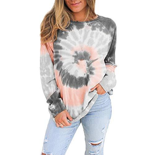 Nueva Camiseta Estampada degradada para Mujer, Camiseta Informal de Manga Larga de Primavera-otoño, Camiseta Holgada de Gran tamaño para Mujer, Camiseta 5XL