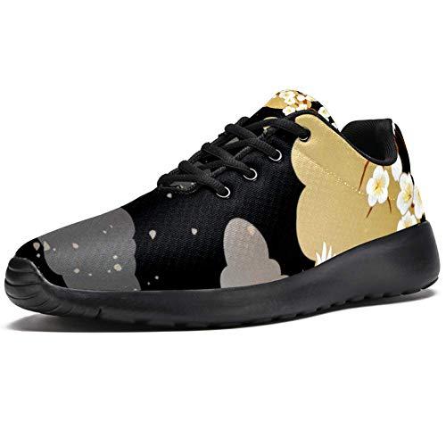 Tizorax Laufschuhe für Herren, flying Cranes und Orchideen, modische Sneakers, Netzstoff, atmungsaktiv, Wandern, Tennis, Größe 4,5, Mehrfarbig - mehrfarbig - Größe: 40 2/3 EU