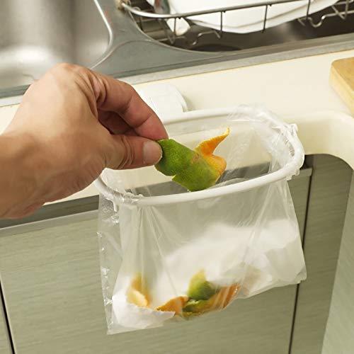 FDN Abfalleimer Trash Regallager Müllsackhalter Schrank-Tür Zurück Küche Müllsack Schrank Hängend Orgnizer Wandmülltonne