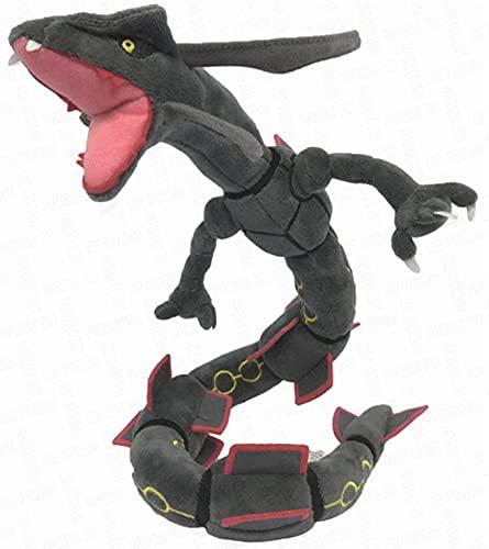 Rayquaza Plush - Black Shiny Rayquaza Stuffed Animal - Rayquaza Plushie - Rayquaza Plush Toy 30' Long (Stock in US)
