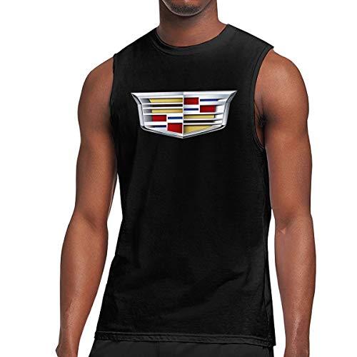 Men Cadillac 2014 Logo Sleeveless Workout Muscle Bodybuilding Tank Tops Shirts Black