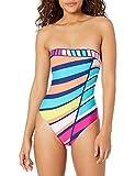 Trina Turk Women's Bandeau One Piece Swimsuit, Multi//Catch a...