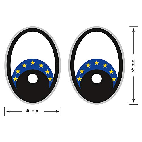 Eye Europa vlag robotstofzuiger, stickers, stofzuiger robotmaaier, stickers, eye, stickers, Yeux grasmaaier robotmaaier