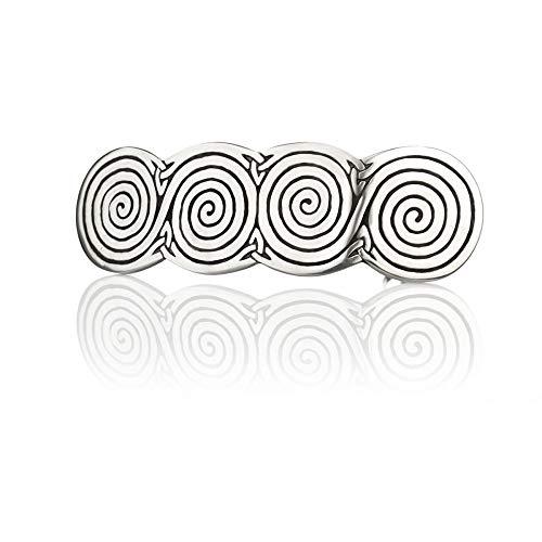 Celtic Spirals - Keltische Haarspange - handgefertigt in England