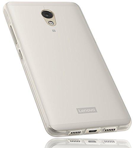 mumbi Hülle kompatibel mit Lenovo P2 Handy Hülle Handyhülle, transparent weiss