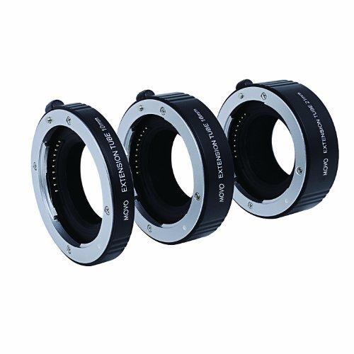 Movo Photo AF Macro Verlangerungs Rohr Set fur Sony E-Mount (NEX) spiegellose Kamera System mit 10mm, 16mm & 21mm Rohren (Metall aufsatz)