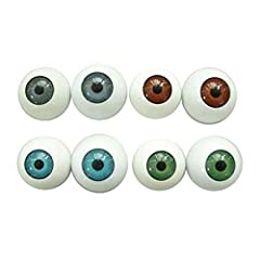Material: Plastic. Quantity: 8 Pcs. Package includes two brown, two blue, two green and two gray eyeballs. Add any pair of eyeballs to a mask and create your custom Halloween prop. This eyes models kits are exquisite workmanship and exquisite and met...