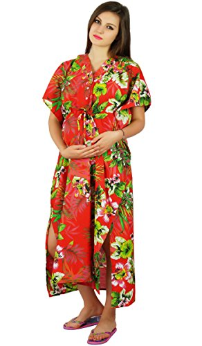 Bimba Nursing Cotton Kaftan Maternity Night Wear, Hospital Delivery Gown- Front Buttons