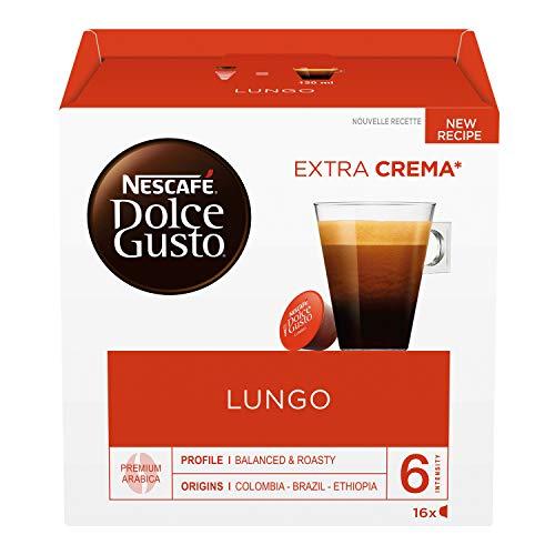 Nescafé Dolce Gusto Caffè Lungo, 6 Confezioni da 16 Capsule (96 Capsule)