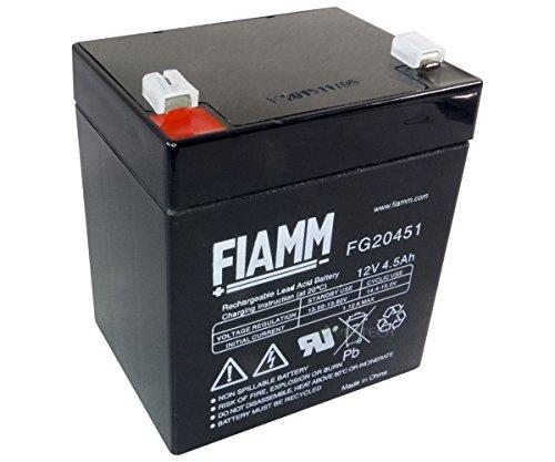 FIAMM Bleiakku FG20451 12V 4,5Ah Vlies Blei Akku USV FG 20451 Gel Batterie AGM Faston 4,8mm