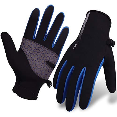 Molee Fahrradhandschuhe, Touchscreen, wasserdicht und Winddicht von Browill (Blau, L)