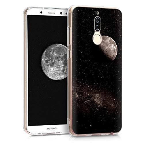kwmobile Funda Compatible con Huawei Mate 10 Lite - Carcasa de TPU y Luna en Gris Claro/Negro