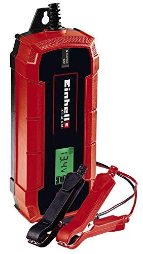 Einhell Batterie-Ladegerät CE-BC 6 M (intelligentes Batterieladegerät mit Mikroprozessorsteuerung für verschiedenste Batterietypen, u.a. Kfz/Krad, max. 6 Ampere Ladestrom)