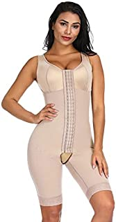 Guomao High Compression Waist Trainer Full Body Shaper Overbust Slimming Sheath Corset Girdle Butt Lifter (Color : Beige, Size : 6XL)