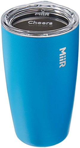 MiiR, Insulated Tumbler with Press-on Lid for Coffee, Tea and Car Cup Holder Compatible, Blue, 12 Oz