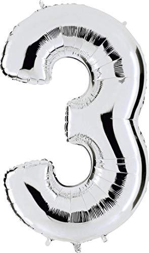Grabo 093S-P Numero 3 Superloon, confezione singola, lunghezza: 101,6 cm, colore: argento, taglia unica