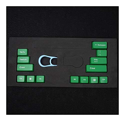 ZJP-dzsw Teclas Ctrl Alt Shift 14 Teclas del Teclado/Set la Tapa de tecla mecánica Llaves del Teclado ABS Clave Cap Universal OEM estándar mecánicos (Color : Green)