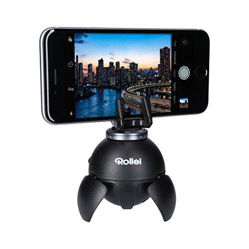 Rollei Smart ePano 360 - elektronischer 360 Grad Panoramakopf für  Zeitrafferaufnahmen, Panoramen und Fotos mit bis zu 500 g Traglast, inkl. Bluetooth Fernbedienung - Schwarz