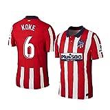 Y-shop Camiseta Koke Atletico De Madrid Rojo,Camiseta Koke 2020/21 para Hombre & Niño(Rojo,XL)