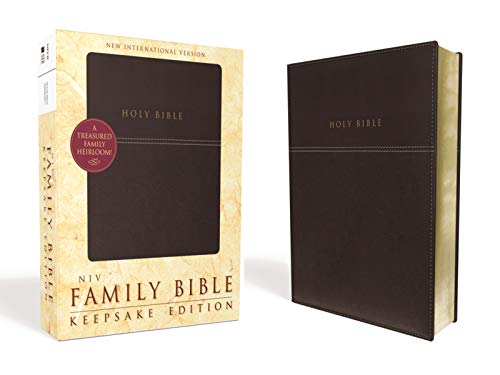 NIV, Family Bible (Keepsake Edition), Leathersoft, Burgundy, Red Letter