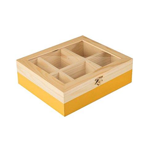 IBILI - Caja DE TE 6 Compartimentos Amarillo