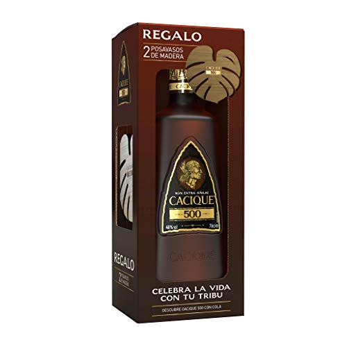 Cacique Ron 500, Pack con posavasos de regalo - 700 ml