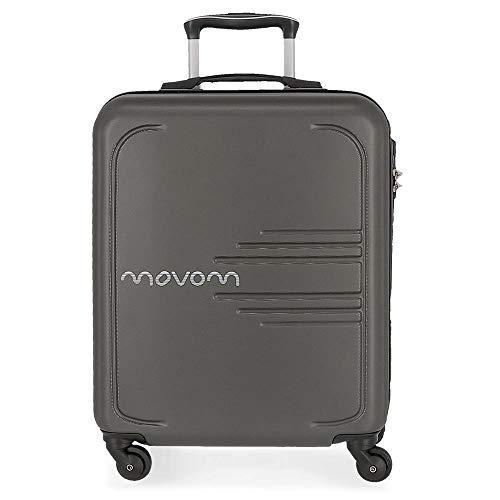 MOVOM Flash Equipaje de Mano, 55 cm, 37 litros, Gris