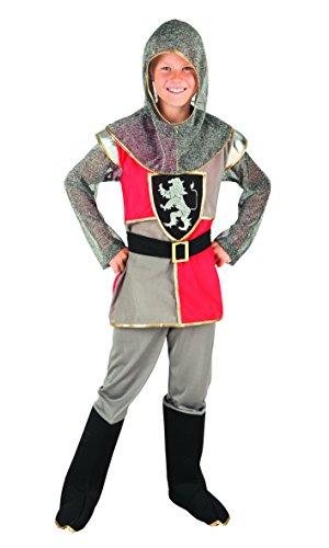 Boland- Cavaliere Medievale Lord Templeton Costume Bambino, Grigio/Rosso, 4-6 anni, 82136