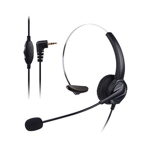 Docooler VH530 Telefone Profissional Headset Clear Cancelamento de Ruído de Voz Atendimento ao Cliente Com Fio Head-mounted Headphone 2.5mm Fone de Ouvido Jack para Call Center Telefone Digital