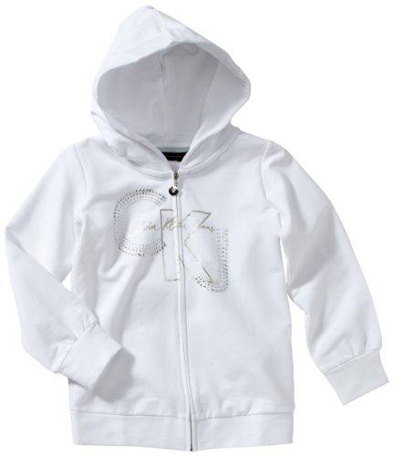 Calvin Klein Jeans Meisjes Pullover CGQ431 U2608 104 cm Bianco (Weiß (001))