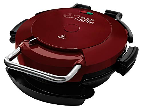 George Foreman 24640 7-Portion Entertaining 360 Grill, Non Stick Plates, 1750 W, Red