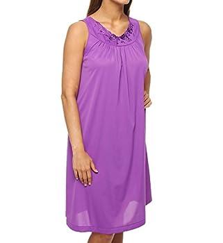 Shadowline Women s Plus Size Petals40 Sleeveless Waltz Gown Purple 2X