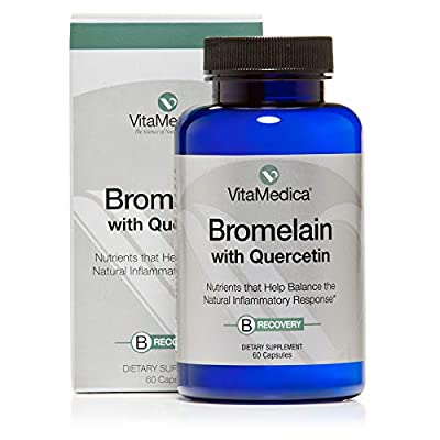 VitaMedica Bromelain with Quercetin Supplement to Support Recovery- 500 mg Vegan Capsules