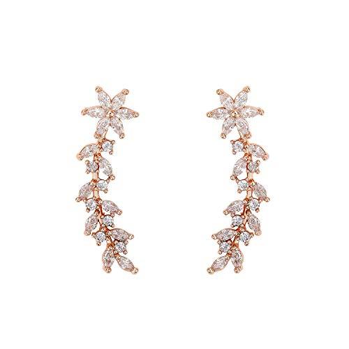 SWEETV Pendientes de circonita cúbica para mujer y niña, pendientes de oreja escaladores para joyas, hipoalergénicos, sin níquel