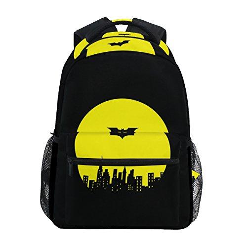 ISAOA Black Batman School Bag for Boys Girls Children Backpack Adults Travel...