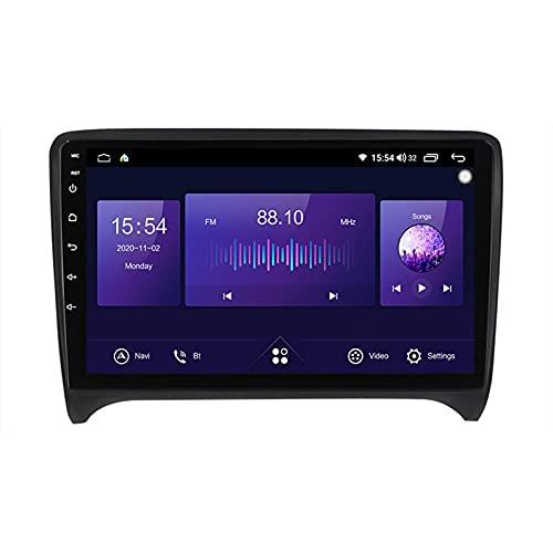 9'' Android 10.0 Autoradio Bluetooth Manos Libres Autoradio Carplay Para Audi TT TTS 2006-2012,Autoradio Soporte GPS Mandos De Volante Cámara Trasera 1280 * 720P Mirror-Link 5Ghz Wifi ,7862,6G+128G