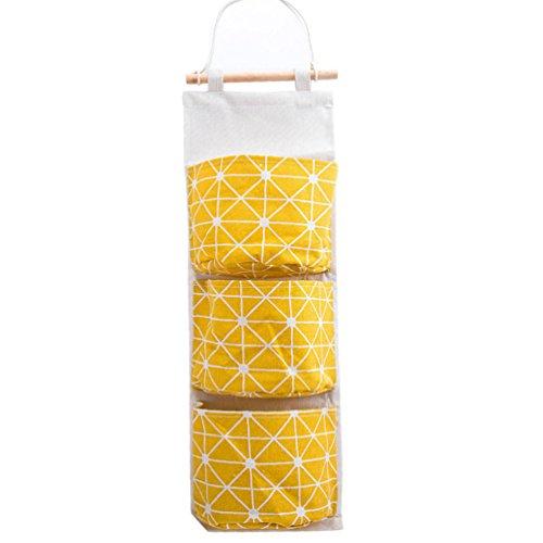 Albeey Hängeorganizer Baby Kinder Wand Hängenden Tasche Gadget Pouch Debris Beutel Bad Wand Utensilo, Multifunktionale Wohnzimmer Schlafzimmer Hängenden Tasche (Gelb)