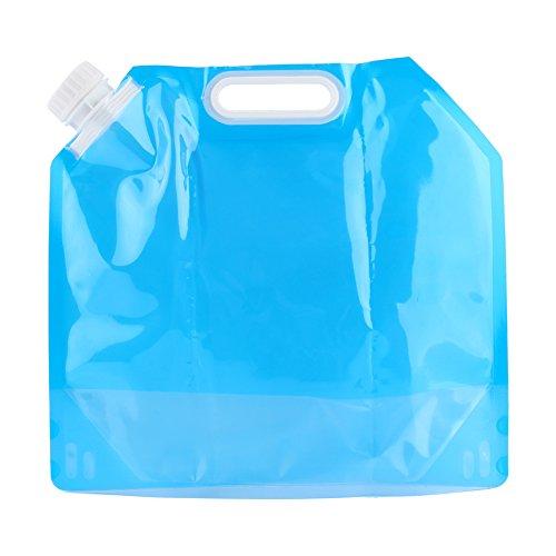 YOPOTIKA 5L PE Borsa contenitore acqua – Morbida borsa pieghevole di emergenza per campeggio escursionismo zaino