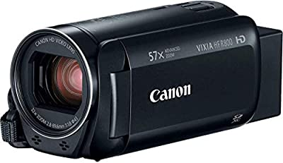 "Canon VIXIA HF R800 Full HD Camcorder with 57x Advanced Zoom, 1080P Video and 3"" Touchscreen - Black (US Model) from Canon"
