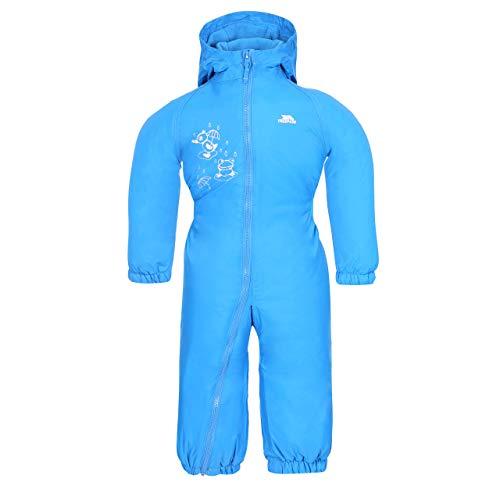 Trespass Gota Goteo Traje Impermeable de Acolchado, bebé, Color Azul - Azul, tamaño Size 12/18
