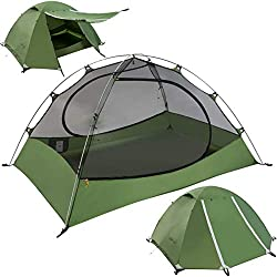 Clostnature 4-Person Tent for Camping, Waterproof Backpacking Tent for Family, 3 Season Lightweight Tent for Hiking, Easy to Set Up