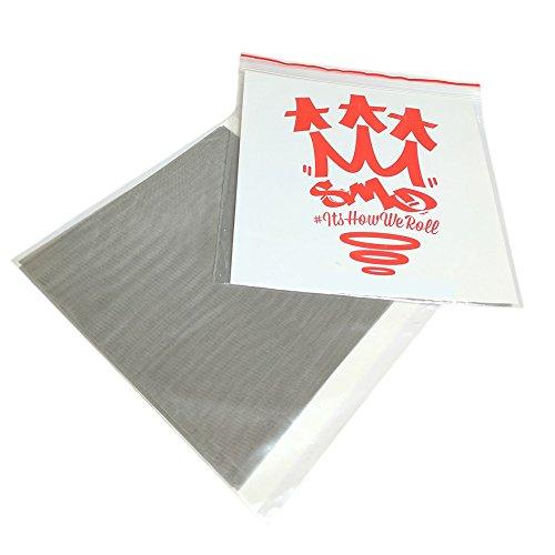 SMO-KING Presssieb, 5 x 50 µ Mikron, 10,2 x 10,2 cm, Stahlfilter, für Wachs-, Öl-, EOE-Extraktion, 5er-Packung