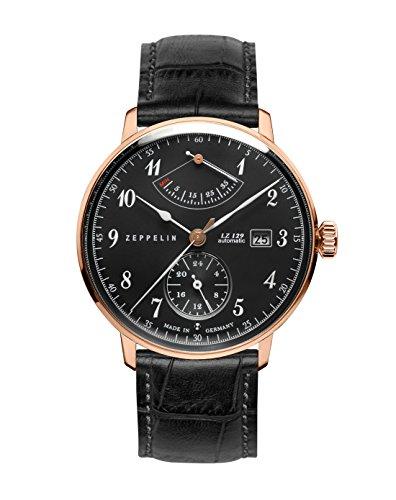 Zeppelin Unisex Chronograph Quarz Uhr mit Leder Armband 7064-2