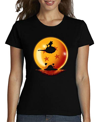 The Fan Tee Camiseta de Mujer Dragon Ball Goku Vegeta Bolas de Dragon Super Saiyan 009 S