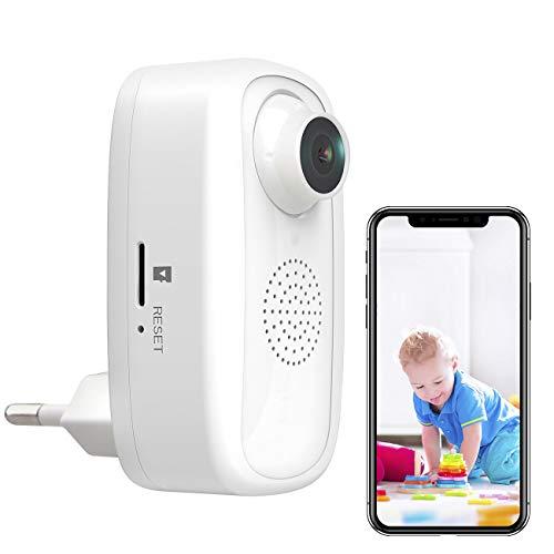 7links Steckdosenkamera: Steckdosen-Full-HD-IP-Kamera, WLAN, App, für Echo Show und Google Nest (Steckdosen Cam)